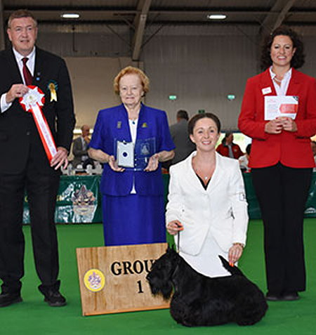 Judge: Mr S Watson  -  CROSS, Ms R & HUBER, Mrs V & CROSS Ms D Ch Mcvan's Big Bopper At Beameups SCOTTISH TERRIER Dog